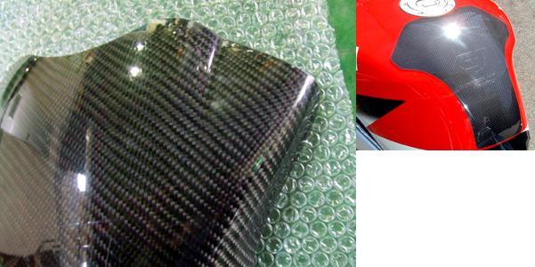 【CLEVERWOLF】碳纖維油箱保護貼(綾織) - 「Webike-摩托百貨」