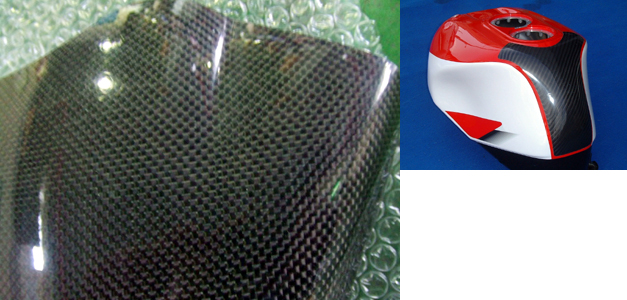 【CLEVERWOLF】碳纖維油箱保護貼 (綾織) - 「Webike-摩托百貨」