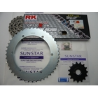 Front/Rear Sprocket & Chain/Rivet Joint Set SUNSTAR