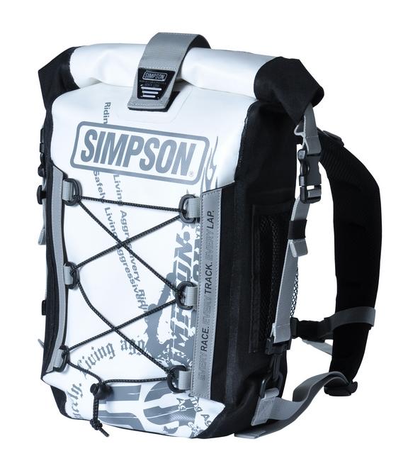【SIMPSON】防水背包/白色 - 「Webike-摩托百貨」