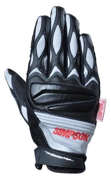 【SIMPSON】網格手套/灰色 - 「Webike-摩托百貨」