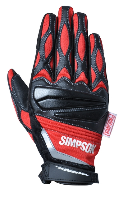 【SIMPSON】網格手套/紅色 - 「Webike-摩托百貨」