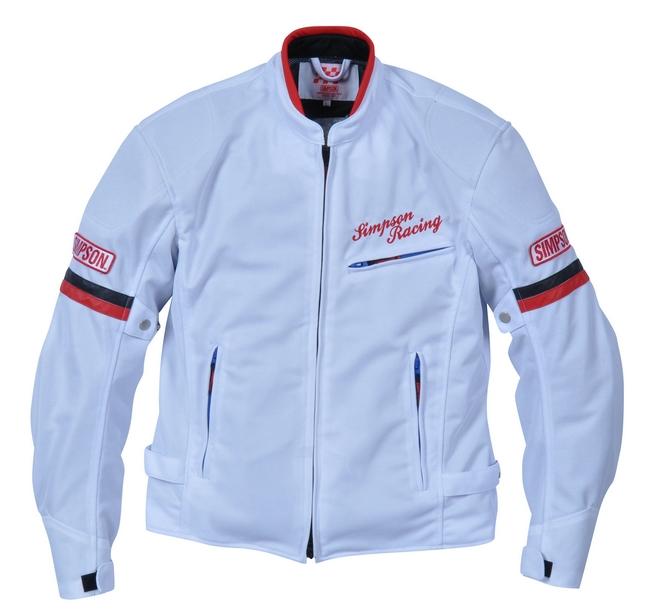 【SIMPSON】網格外套 白色/紅色 - 「Webike-摩托百貨」