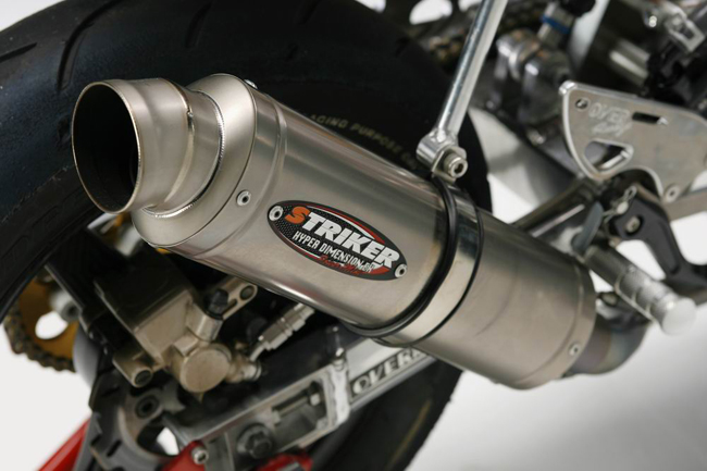 【STRIKER】Power mini 賽車用橢圓排氣管尾段 - 「Webike-摩托百貨」