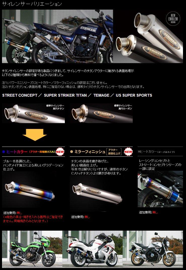 【STRIKER】TEMAGE 不鏽鋼全段排氣管 - 「Webike-摩托百貨」