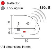 【XENA】警報碟盤鎖 XZZ6L-SS - 「Webike-摩托百貨」