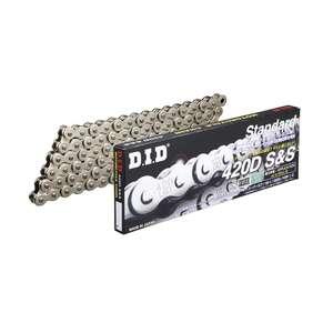 DID ダイドースタンダードシリーズチェーン 420D シルバー 【クリップ(RJ)ジョイント付属】