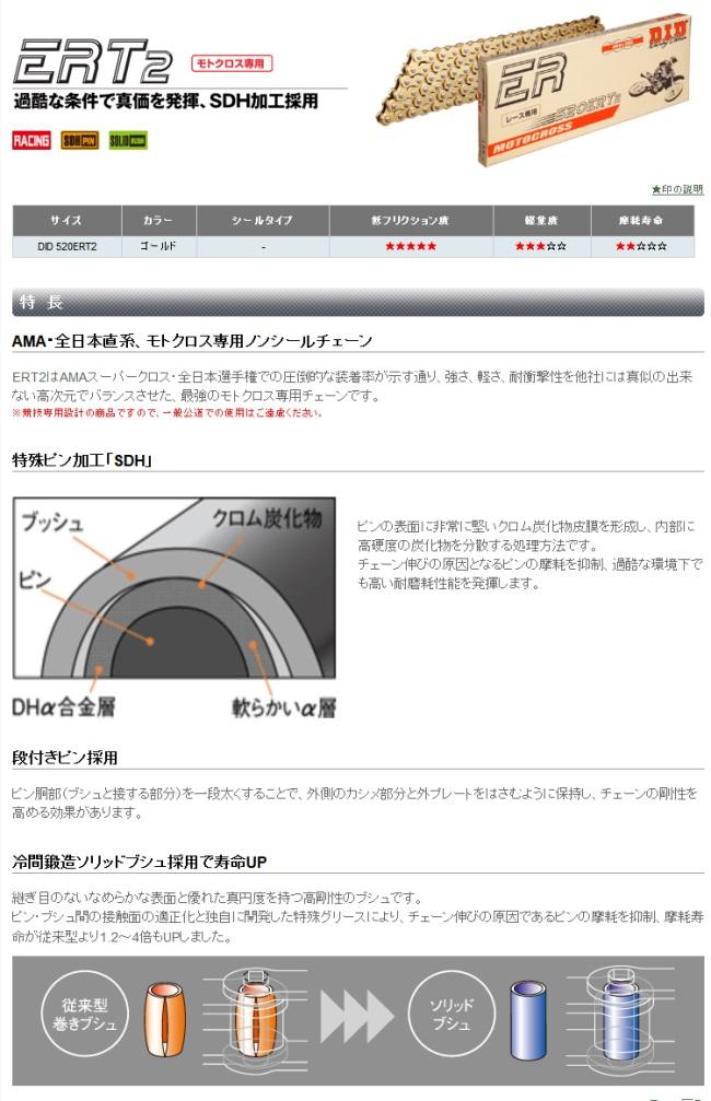 【DID】ER 系列 520ERT2 金色鏈條 - 「Webike-摩托百貨」