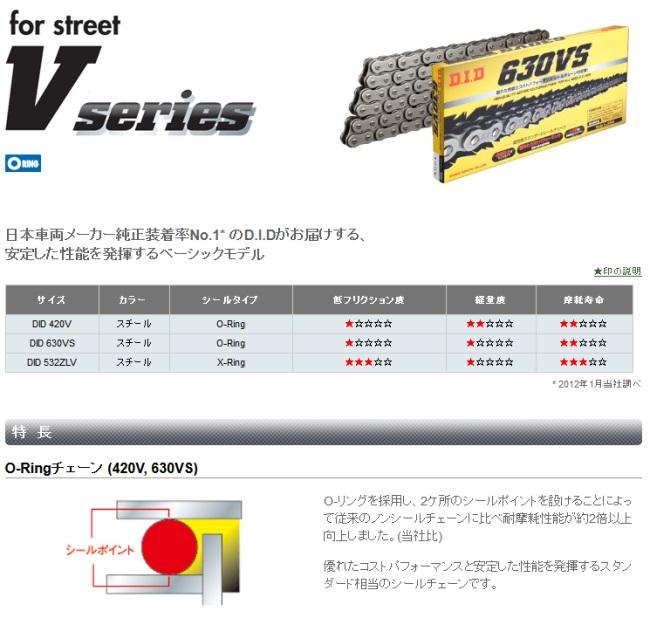 【DID】V 系列 420V  鋼色(steel color)鏈條 - 「Webike-摩托百貨」