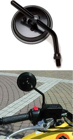 【TAKATSU】3英吋黑色後視鏡 - 「Webike-摩托百貨」
