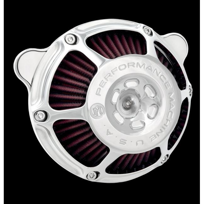 【PerformanceMachine】Big Twin用 MAX HP 空氣濾清器(鍍鉻) - 「Webike-摩托百貨」