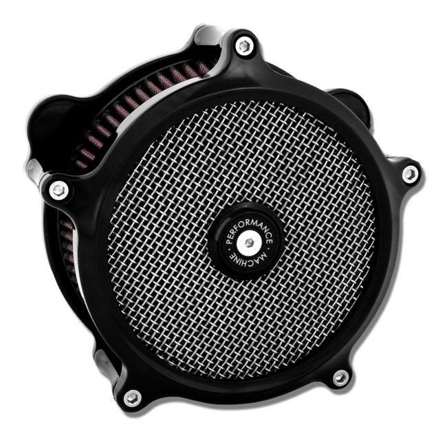 【PerformanceMachine】Big Twin S&S化油器用 Super Gas 空氣濾清器(黑色) - 「Webike-摩托百貨」
