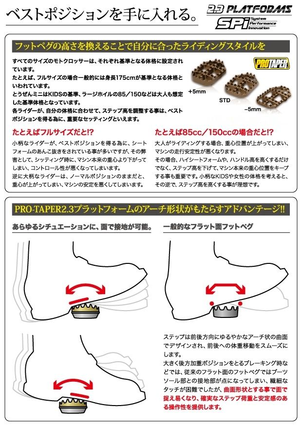 【PRO TAPER】2.3 PLATFORMS 越野專用腳踏 - 「Webike-摩托百貨」