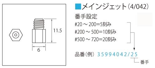 【Mikuni】主油嘴 (4/042) - 「Webike-摩托百貨」