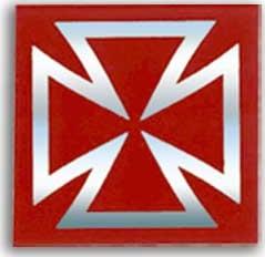 【DRC】SH0425十字貼紙(紅) - 「Webike-摩托百貨」