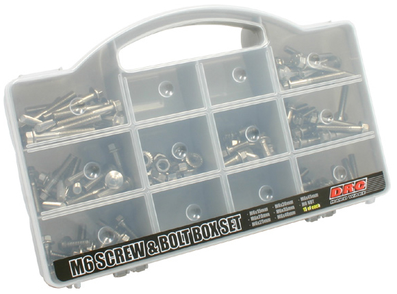 【DRC】不鏽鋼螺絲&螺帽 盒裝組(墊圈頭螺絲組) - 「Webike-摩托百貨」