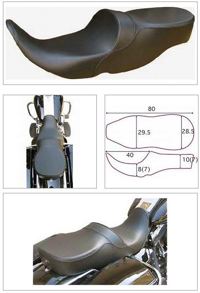 【K&H】Double 雙坐墊2 素面 - 「Webike-摩托百貨」