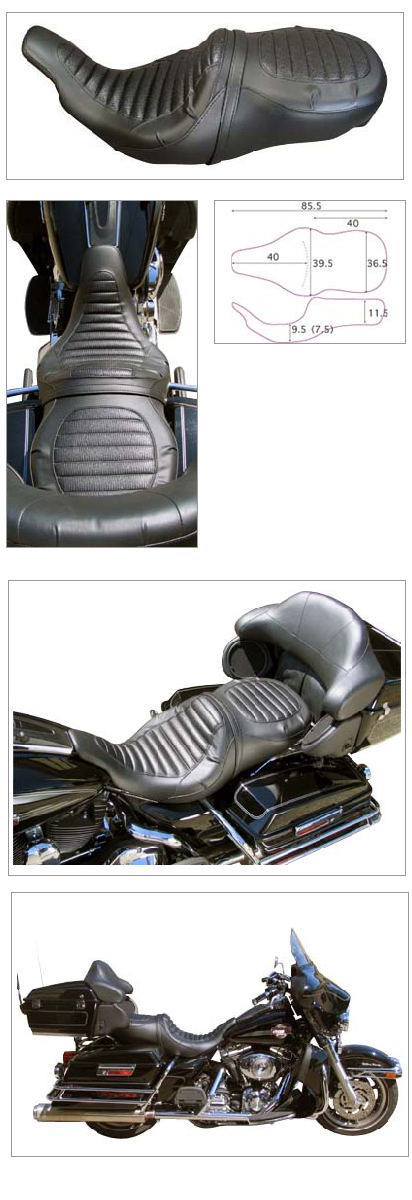 【K&H】Double 雙坐墊 Tuck 毛毛蟲型 - 「Webike-摩托百貨」