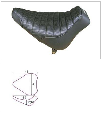 【K&H】單坐墊 BD Tuck 毛毛蟲型 - 「Webike-摩托百貨」