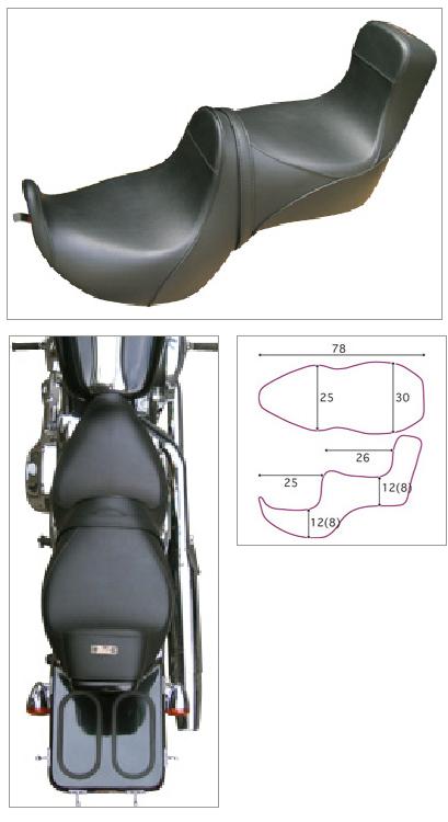 【K&H】Gun Fighter 素面 坐墊<Semi-order> - 「Webike-摩托百貨」