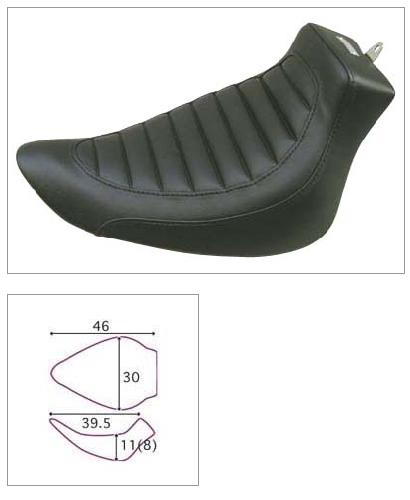 【K&H】單坐墊 Tuck Stitch 毛毛蟲型 - 「Webike-摩托百貨」