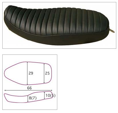 【K&H】Double 雙坐墊 A Tuck 毛毛蟲型<Semi-order> - 「Webike-摩托百貨」