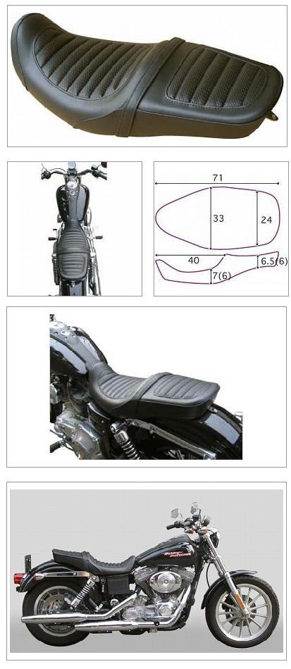 【K&H】Double 雙坐墊  Tuck 毛毛蟲型<Semi-order> - 「Webike-摩托百貨」