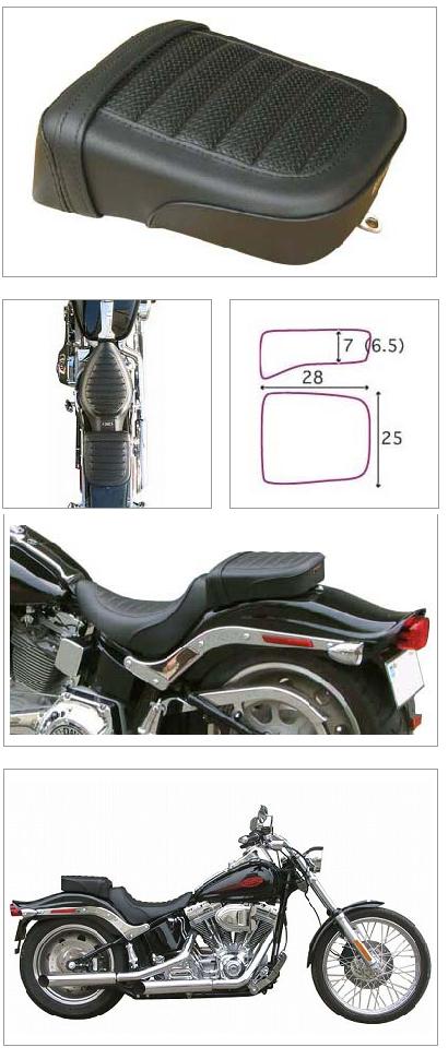 【K&H】Pair Ride Tuck 毛毛蟲坐墊<Semi-order> - 「Webike-摩托百貨」