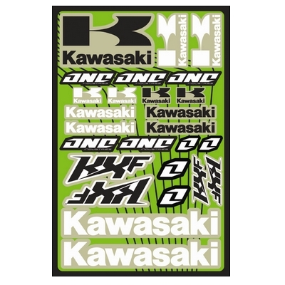 【ONE Industries】4MIL 貼紙套件 KAWASAKI KXF - 「Webike-摩托百貨」