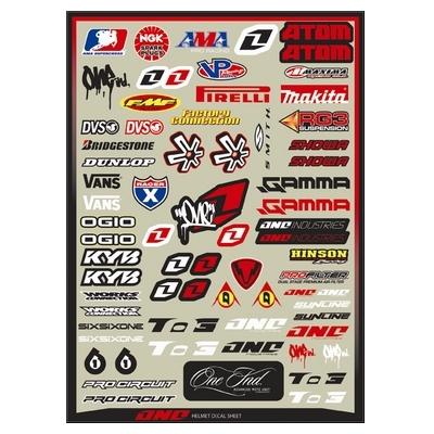 【ONE Industries】4MIL HELMET LOGOS套裝貼紙組 - 「Webike-摩托百貨」