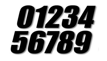 【ONE Industries】Super cross 號碼貼紙 - 「Webike-摩托百貨」