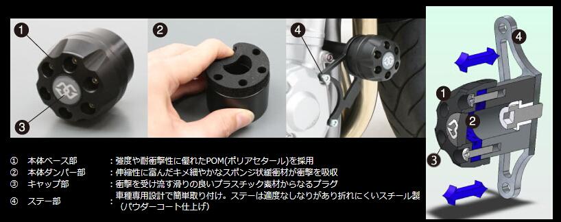 【GILLES TOOLING】IP Pad 保護滑塊 (防倒球) - 「Webike-摩托百貨」