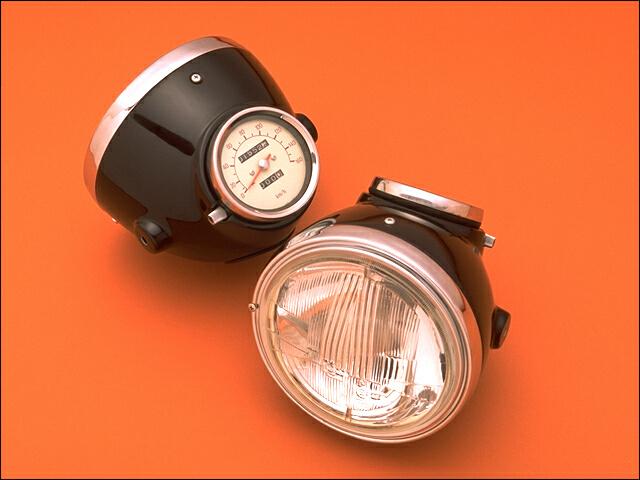 【CHIC DESIGN】復古頭燈(內嵌儀錶) - 「Webike-摩托百貨」