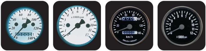 【POSH】LED背光式迷你速度錶(機械式) - 「Webike-摩托百貨」