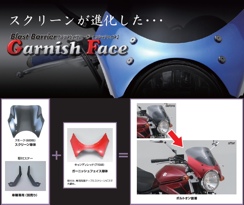 【DAYTONA】Garnish Face Blast Barrier専用 - 「Webike-摩托百貨」