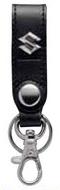 【SUZUKI】皮革吊環式鑰匙圈-黑色 <SEA BASS> - 「Webike-摩托百貨」