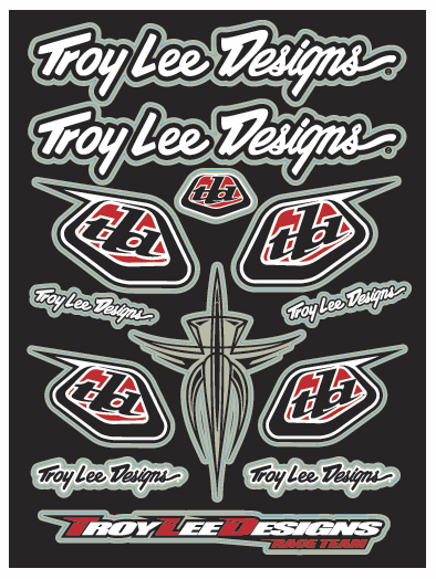 【TROY LEE】TLD 競賽車隊貼紙組 - 「Webike-摩托百貨」