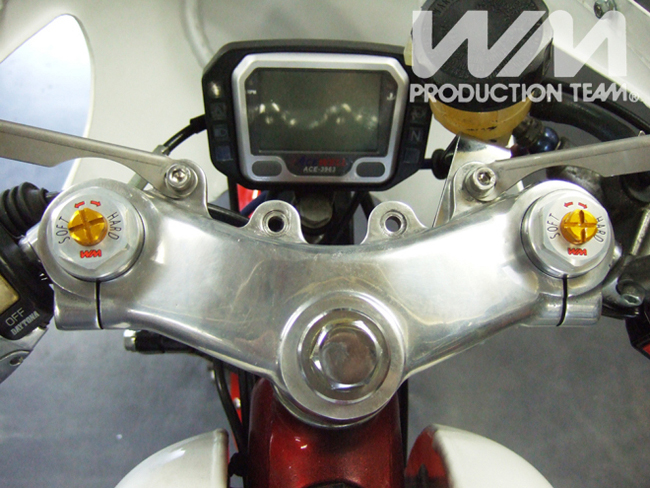 【WM】GRUφ 35 Gray Anodized 前叉預載調整器 - 「Webike-摩托百貨」