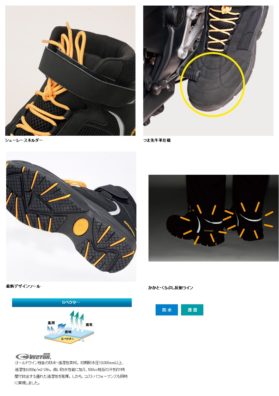 【GOLDWIN】GVector 騎士靴 - 「Webike-摩托百貨」