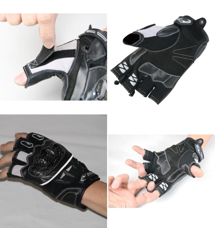 【ROUGH&ROAD】半指防護手套 - 「Webike-摩托百貨」