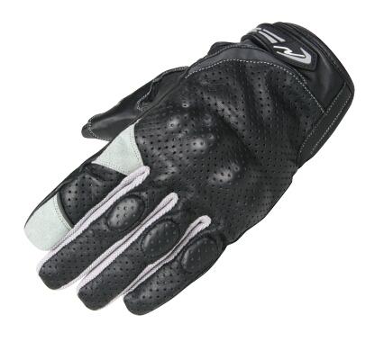 【ROUGH&ROAD】舒適關節防護皮革打孔手套 - 「Webike-摩托百貨」