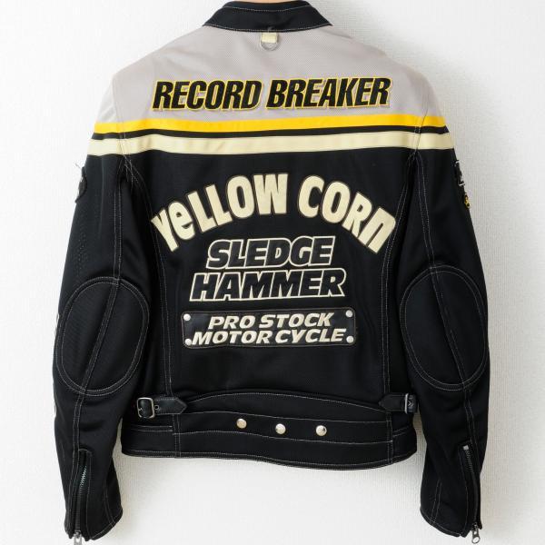 【YELLOW CORN】BB-4104 textile夾克(象牙白/黑色) - 「Webike-摩托百貨」