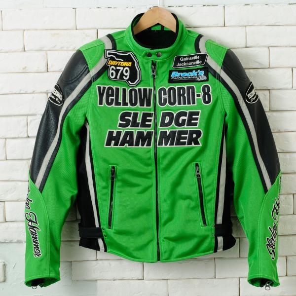 【YELLOW CORN】BB-4108 textile夾克(石灰綠) - 「Webike-摩托百貨」