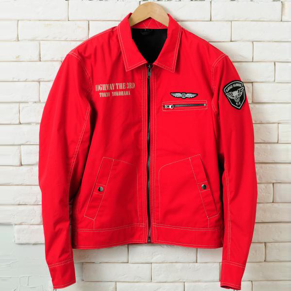 【YELLOW CORN】YB-4101 Textile外套(紅色) - 「Webike-摩托百貨」