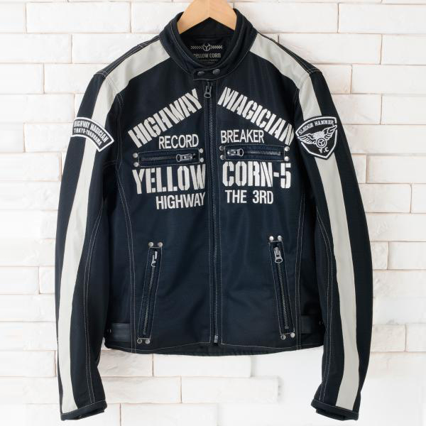 【YELLOW CORN】YB-4105 textile夾克(黑色) - 「Webike-摩托百貨」