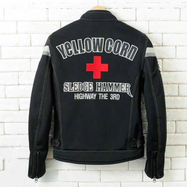 【YELLOW CORN】YB-4112 textile夾克(黑色) - 「Webike-摩托百貨」