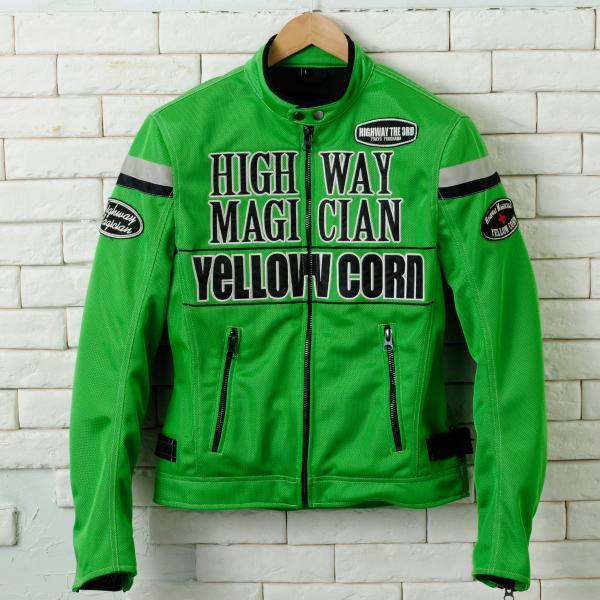 【YELLOW CORN】YB-4112 textile夾克(石灰綠) - 「Webike-摩托百貨」