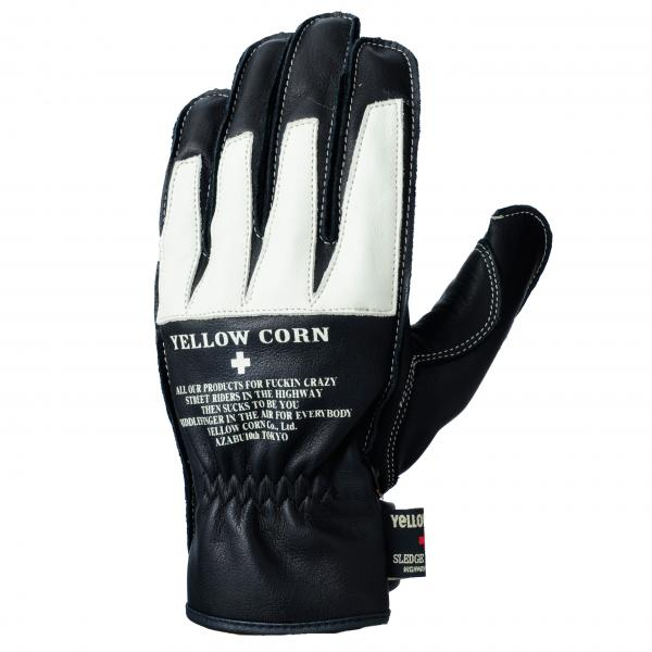 【YELLOW CORN】YG-227 手套(黑/象牙白) - 「Webike-摩托百貨」