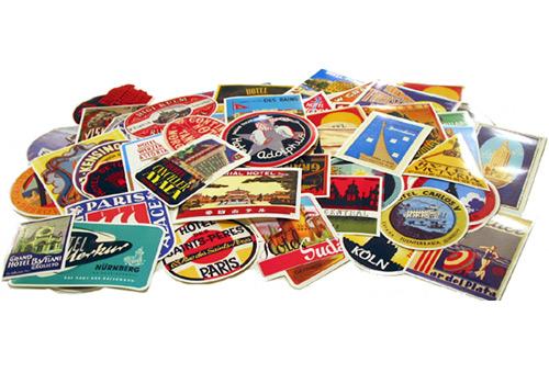 【EASYRIDERS】【DULTON】復古hotel 貼紙 (50張) - 「Webike-摩托百貨」