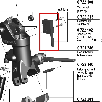 【MAGURA】【195 輻射式主缸】用維修部品 離合器用開關套件 - 「Webike-摩托百貨」